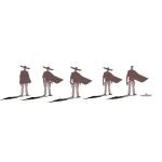 Vector illustration of gunslingers standing next to each other