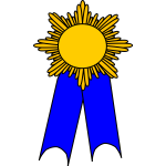 Vector clip art of prize medal