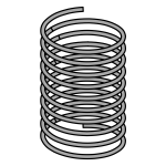Metal spring vector drawing