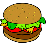 Hamburger drawing