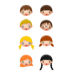 Collection of children's faces