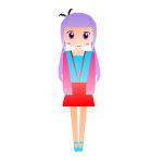 Purple-haired girl