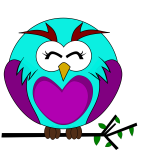 Vector clip art of purple owl