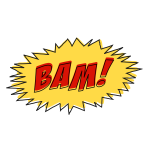 Vintage comic BAM sound effect