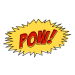 Vintage comic POW sound effect