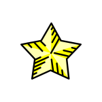 Yellow decorative star