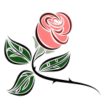 Stylized rose art