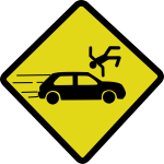 Car accident sign