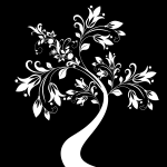 Decorative tree vector clip art