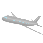 Gray airplane vector