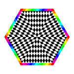 Rainbow hexagon