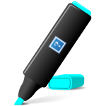 Blue Highlighter Pen with Logo