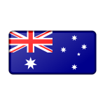 Flag of Australia (bevelled)