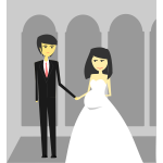 Happy Wedding illustration