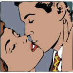 Retro kissing