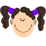 girl with brown hair and pigtails