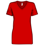 Woman's red shirt
