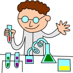 Chemist in a laboratory