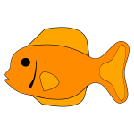 Orange fish vector image
