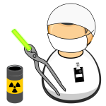 Nuclear facility worker