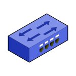 Isometric switch with border