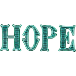 Hope green typography