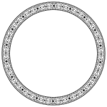 Decorative Ornamental Round Frame