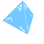 Four-Sided Dice (Blue)