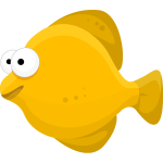 Cartoon yellow fish