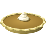 Pie with cream