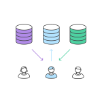 database repository users icons