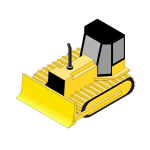 Isometric bulldozer animation