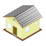 Isometric house icon
