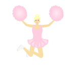 Jumping cheerleader