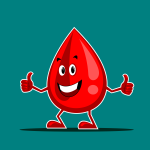 drop of blood mascot
