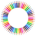 Colorful Pencils Frame 4