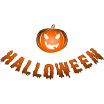 Halloween orange logo