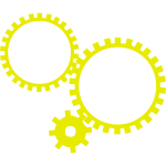 Yellow gear shapes