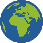 Earth simple icon