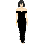 Black dress lady