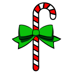 Outlined candy cane