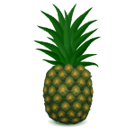 Green pineapple vector image