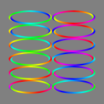 Colorful spiral rings