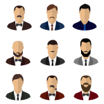 Various office men faces