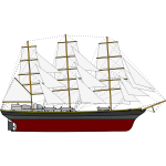 Three Sail Ship