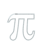 Pi number (contour text)