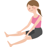 Cartoon woman stretching