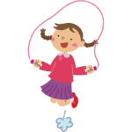 Girl Skipping Rope