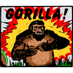 Gorilla cartoon poster
