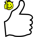 Thumbs up icon outline